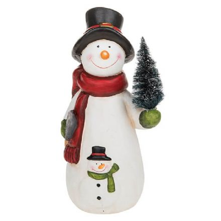Xmas Cheer Snowman Large Figurine